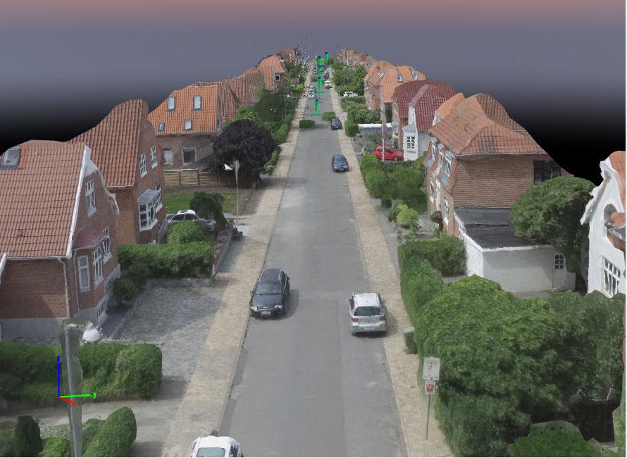 3D model af gade i Skibhuskvarteret